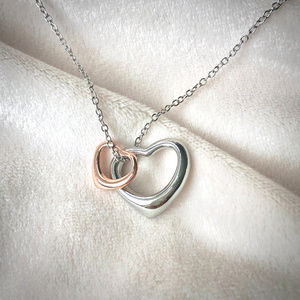 Jewelry - Double Floating Heart Pendant Necklace